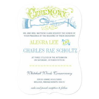 Romantisches Limones Aqua Vintage Gatsby Individuelle Einladung