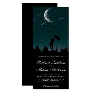 Romantisches nächtlicher Himmel, Mond u. Shooting Karte
