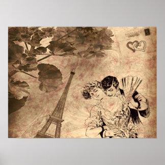 Romantisches Paris Vintag Poster