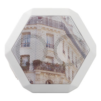 Romantisches Pariser Gebäude, weiches PastellFoto Weiße Bluetooth Lautsprecher