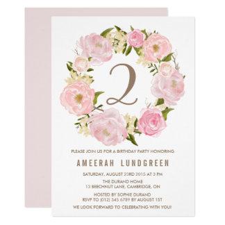 Romantisches rosa 12,7 x 17,8 cm einladungskarte
