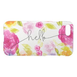 Romantisches rosa Blumenblüten Boho-Chic hallo iPhone 7 Hülle