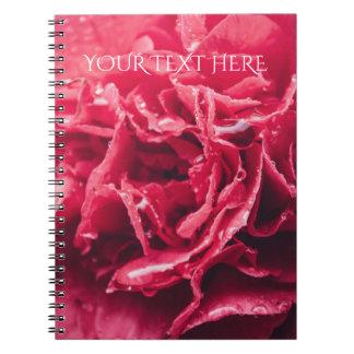 Romantisches rosa gewundenes Notizbuch der Spiral Notizblock