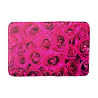 Romantisches rosa lila Rosen-Muster Badematte