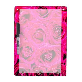 Romantisches rosa lila Rosen-Muster Memoboard