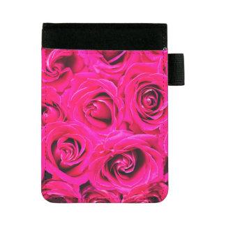 Romantisches rosa lila Rosen-Muster Mini Padfolio