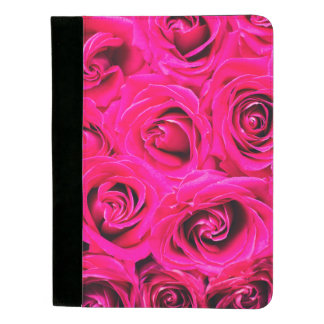 Romantisches rosa lila Rosen-Muster Padfolio