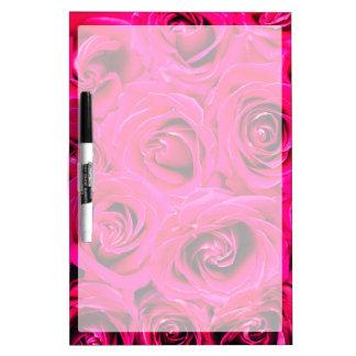 Romantisches rosa lila Rosen-Muster Trockenlöschtafel