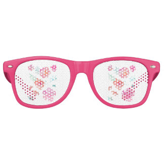 Romantisches rosa Watercolor-Blumen-Braut-Party Partybrille