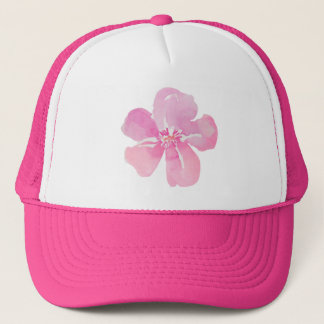 Romantisches rosa Watercolor-Blumen-Party Truckerkappe
