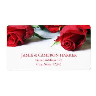 Romantisches Rosen-Adressen-Etikett Versandetikett