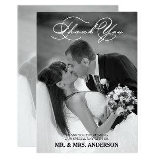 Romantisches Skript Wedding   danken Ihnen Karte