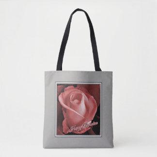 Romantisches Valentinstag-Rosa-Rosen-Geschenk Tasche