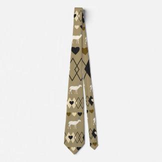 Romantisches Valentinstagmuster mit Rotwild Krawatte