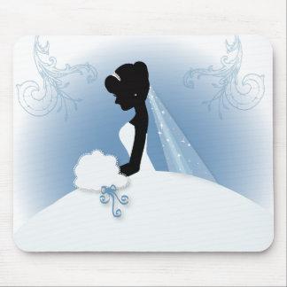 romantisches Vintages Braut-Silhouette-Brautparty Mauspads