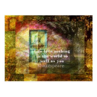 ROMANTISCHES William- ShakespeareLiebe-Zitat Postkarte