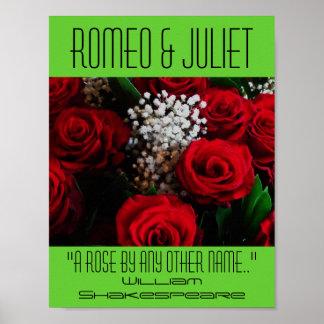 Romeo- u. Julietplakat ein Poster
