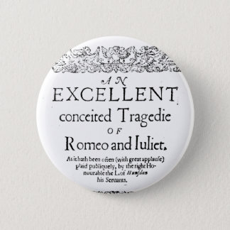Romeo und Juliet Runder Button 5,7 Cm