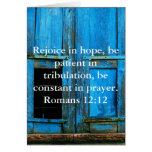 Römer-12:12 Bibel-Vers über Hoffnung Grußkarten