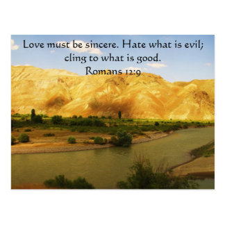 Römer-12 9 inspirierend Bibel-Vers Postkarte