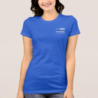 Römer-13:4 verdünnen Blue Line T-Shirt
