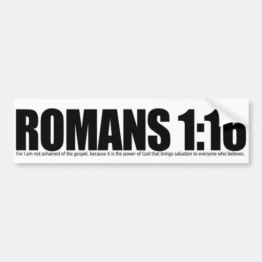 Römer-1:16 Auto Sticker