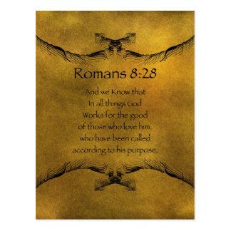 Römer-8:28 Postkarte