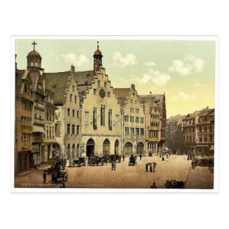 Romerberg mit Romer, Frankfort auf Hauptleitung Postkarte