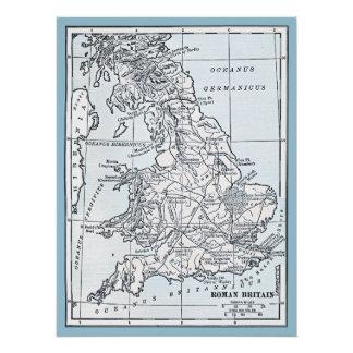 Römische ANZEIGE Großbritanniens 43 Poster
