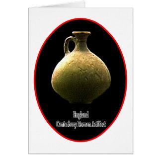 Römische Artefakt-Tonwaren Englands Canterbury 1 Grußkarte