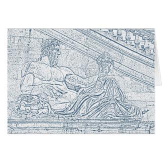 Römische Gruß-Karte Karte