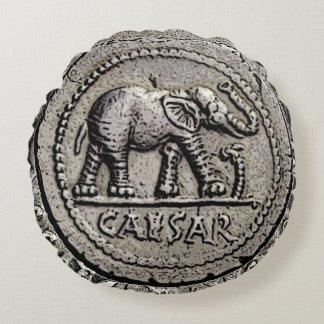 Römische Kaiser-Münze Elefant-Caesars Rundes Kissen