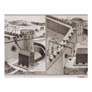 Römische Rammböcke, vom 'Encyclopedie DES S Postkarte