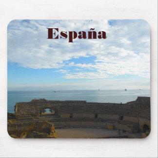 Römische Ruinen an der spanischen Küstenlinie Mauspads