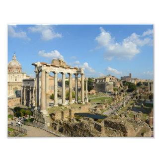 Römische Ruinen in Rom Italien Fotodruck