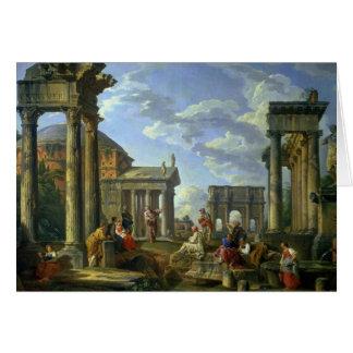 Römische Ruinen mit einem Prophet, 1751 Karte