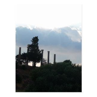 Römische Spalten in Byblos Postkarte