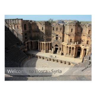 Römische Theater-Bühne Bosra, Syrien Postkarte
