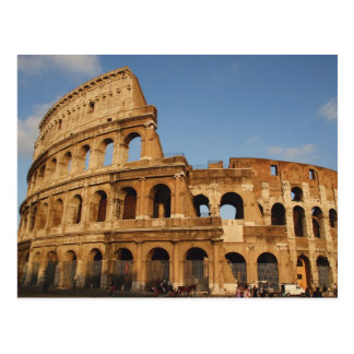 Römischer Art. Das Colosseum oder das Flavian 4 Postkarte