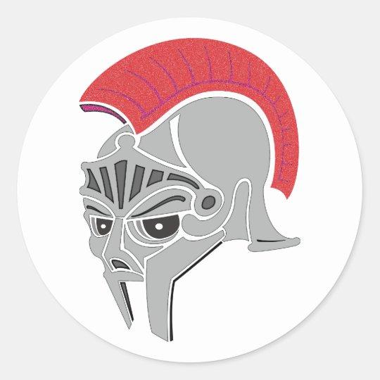 Römischer Helm Roman helmet Runder Aufkleber