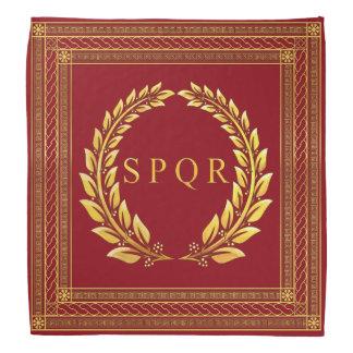 Römischer Kaiser-SPQR und LorbeerBandana Kopftücher