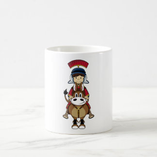 Römischer Soldat mit der Schild-u. PferdeTasse Kaffeetasse