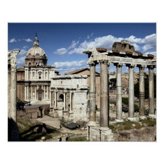 Römisches Forum, Rom, Italien Poster