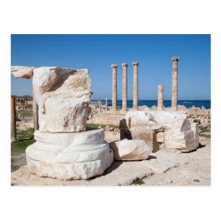 Römisches Forum und Überreste der Statue, Postkarte