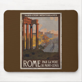 Römisches Forum-Vintage Reise-Anzeige Mousepad
