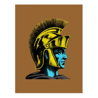Römisches Gladiator-Pop-Kunst-Porträt Postkarte