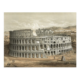 Römisches Kolosseum-Vintage Kunst Postkarte