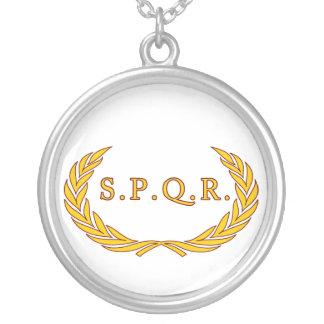 Römisches Legionaire Halskette Mit Rundem Anhänger