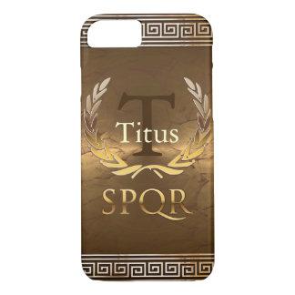 Römisches Monogramm iPhone 7 Hülle