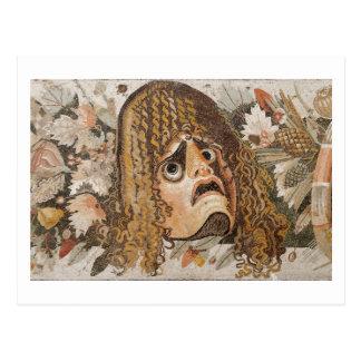 Römisches Mosaik, mit Maske, Blätter und Frucht Postkarte